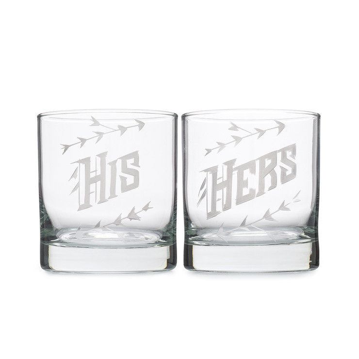 His and Hers Whiskey Glass Set