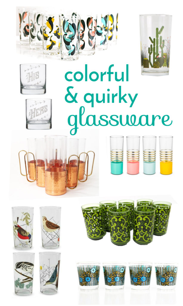 colorful and quirky retro glassware : wise apple vintage blog