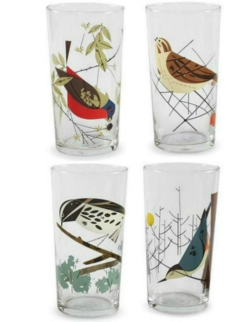 These Charley-Harper-inspired tumblers from Retro Depot each featured a different colorful illustrated bird!