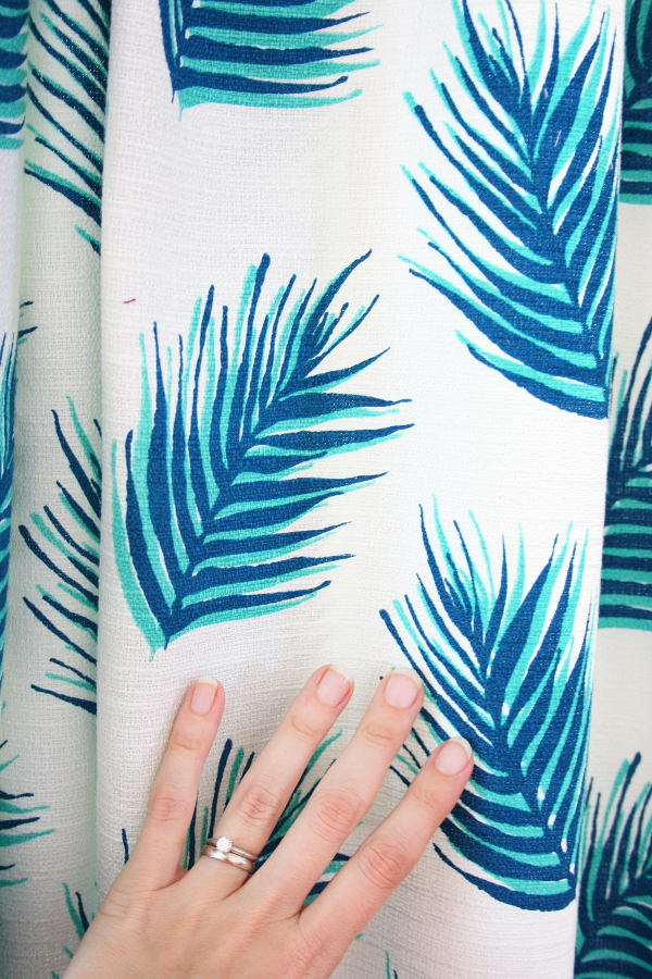 Our fabulously leaf-y new living room curtains :: Wise Apple Vintage
